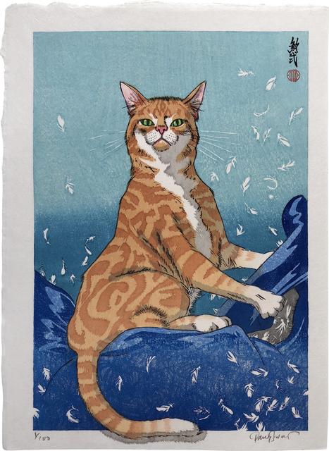 , 'Cat Feathers Blue,' 2018, Scholten Japanese Art
