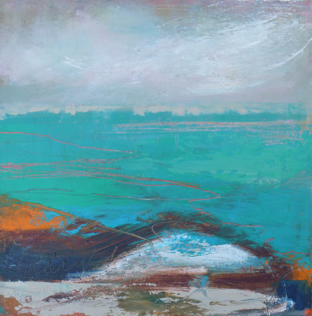, 'A Turquoise Sea,' 2017, Mall Galleries