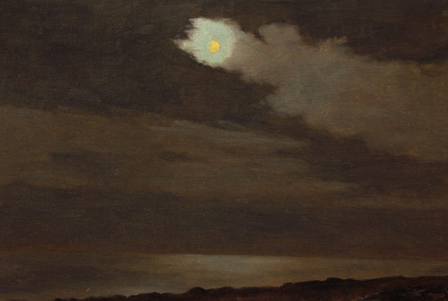 , 'Single Trail of Clouds Near Moon,' ca. 1910, Sullivan Goss