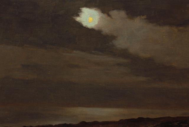 , 'Single Trail of Clouds Near Moon,' ca. 1910, Sullivan Goss