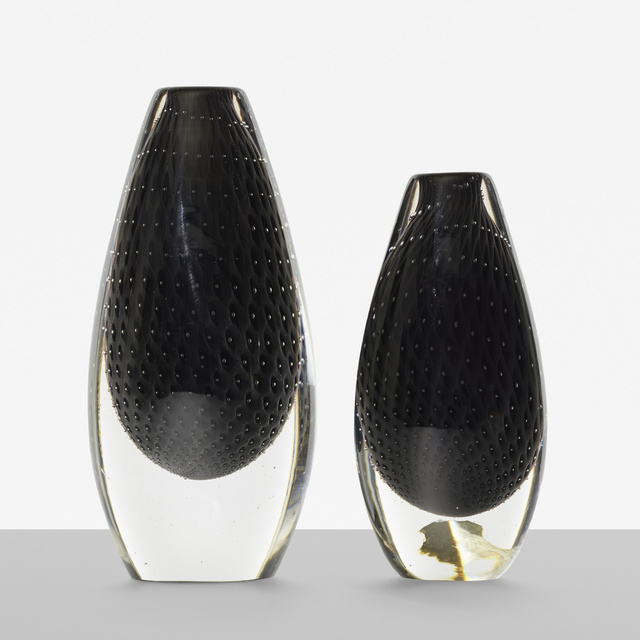 Ernest Gordon, 'Pearl vases, set of two', c. 1955, Design/Decorative Art, Glass, Rago/Wright