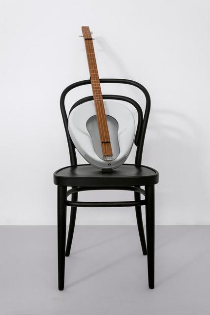 Haim Steinbach, ' Untitled (Thonet chair, Jackson guitar)', 2019, Sculpture, Wood, porcelain, Schellmann Art