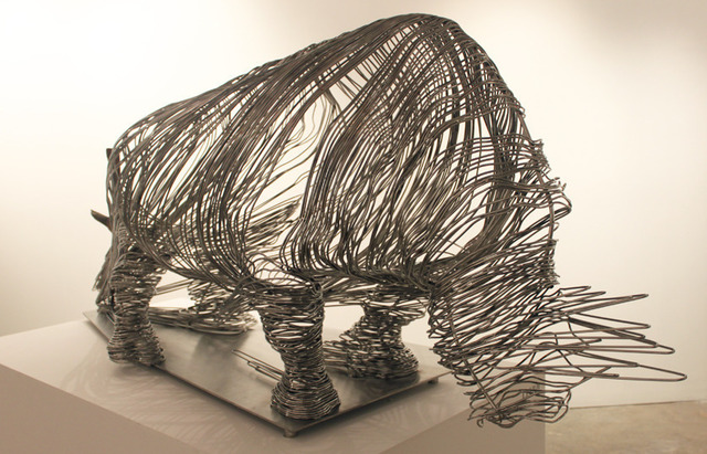 , 'Captured Rhino,' 2012, Klein Sun Gallery