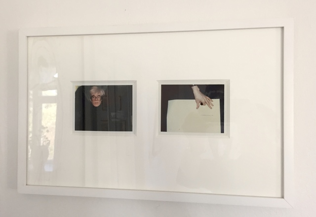 """Andy Warhol, '""""Self-Portrait in Fright Wig and Artist´s Hand"""" (diptych)', 1986, Photography, Polaroids, MultiplesInc Projects"""