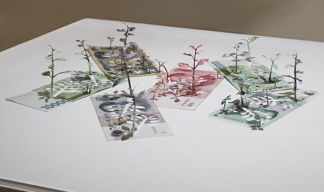 , 'Green Economy(won, yuan, yen),' 2015, Ota Fine Arts