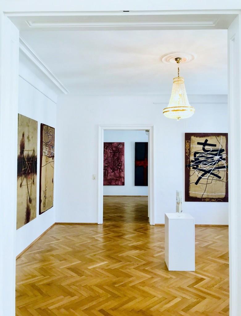 "Installation of artworks ""DESIGNER OF ABSTRACTION"" (2018), photo credit: Bellart Gallery"