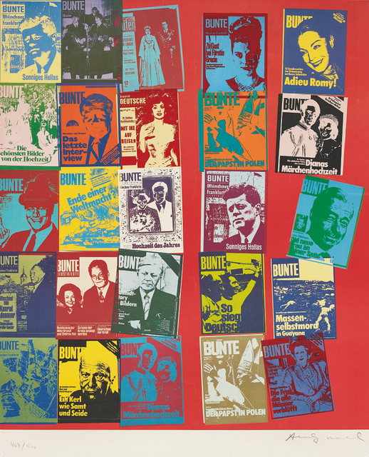 Andy Warhol, 'Bunte', 1984, Print, Screenprint and offset lithograph in colours, on Rives paper, the full sheet., Phillips
