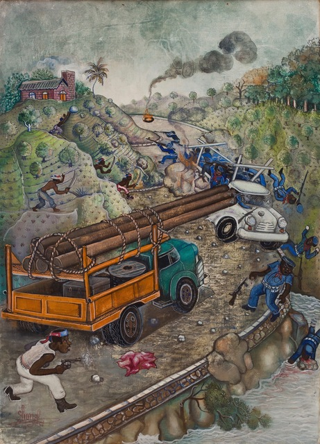 Lionel St. Eloi, 'The People Ambush Duvalier Forces', ca. 1986, ZQ Art Gallery