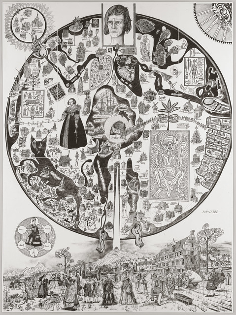 Grayson Perry, 'Map of Nowhere (Black Variant)', 2008, Galerie Maximillian