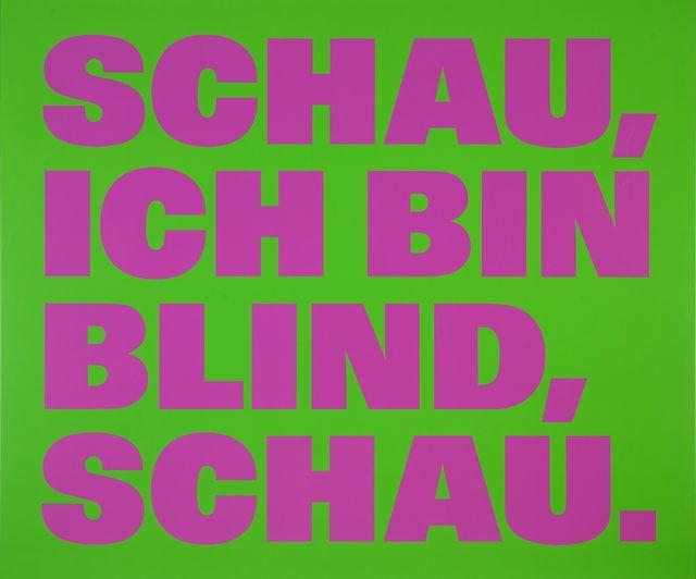 , 'Über die Blindheit 12 ,' 1999, Galerie Nordenhake