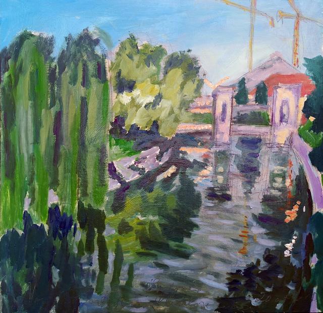 , 'Water series summer 2019 - plein air in situ paintings, Plečnik's locks, No 2, afternoon,' 2019, Noravision Gallery