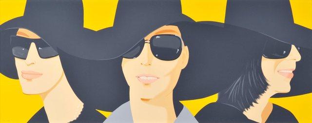 Alex Katz, 'Black Hats IV', 2011, Frank Fluegel Gallery