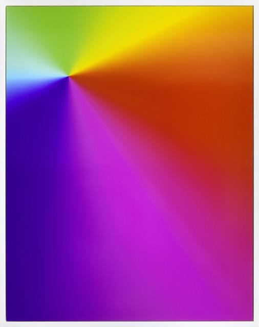 """Cory Arcangel, 'Photoshop CS: 84 x 66 inches, 300 DPI, RGB, square  pixels, default gradient """"Spectrum"""", mousedown', 2009, Carmichael Gallery"""