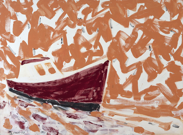 , 'Sardine Boat, Tangerine Sky,' 1990, Dowling Walsh