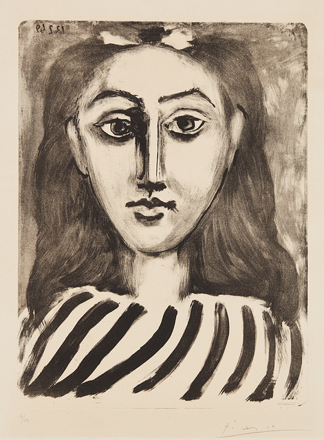 Pablo Picasso, 'Tête de jeune fille (Head of a Young Girl)', 1949, Print, Lithograph, on Arches paper, with full margins, the second (final) state., Phillips