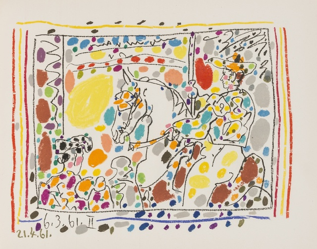 Pablo Picasso, 'Jamie Sebartes. A los Toros Mit Picasso (Bloch 1014-47; Cramer 113)', 1961, Other, The book, comprising 4 lithographs, one printed in colours, Forum Auctions
