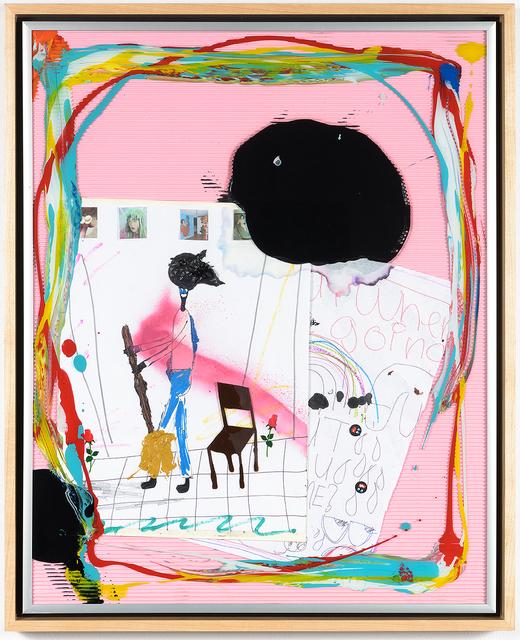 , 'Ikea portraiture (the artist in the studio scene 3) nigga with a broom,' 2016, Richard Heller Gallery