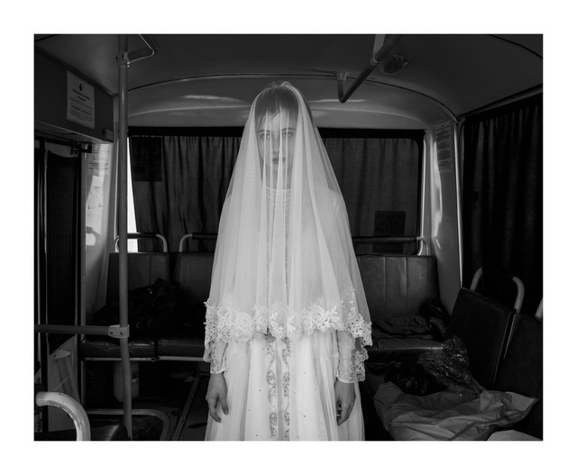, 'Rada, 14, trying on a wedding dress designed by her sister … (Spasibo series),' 2013, Kehrer Galerie