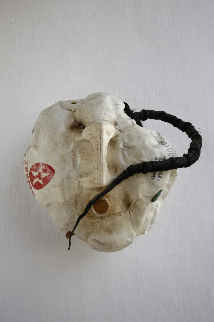 Romuald Hazoumè, Zemi. 1997, Found objects, 44 x 46 x 25 cm, photo: Romuald Hazoume. Courtesy October Gallery London
