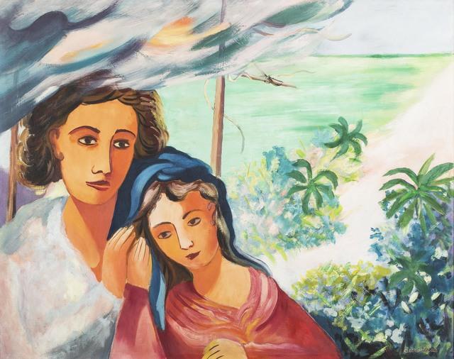 , 'Figuras com Mar ao fundo,' 1950-1960, Simões de Assis Galeria de Arte