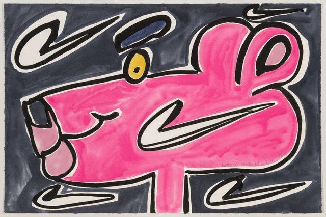 Katherine Bernhardt, 'Nike Panther', 2019, Frank Fluegel Gallery