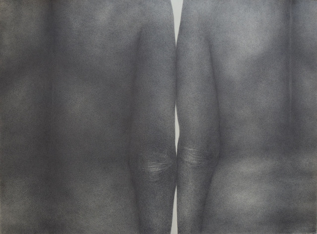 Diana Quinby, 'Couple de dos V', 2020, Drawing, Collage or other Work on Paper, Crayon graphite sur papier, Galerie Arnaud Lefebvre