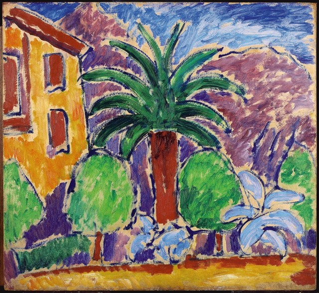 ", '""Haus mit Palme"" (""House with Palm Tree""),' 1914, Galerie Thomas"