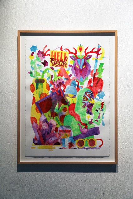 AkaCorleone, 'Hoarder vs. Chaos', 2014, Drawing, Collage or other Work on Paper, Watercolor on paper, Underdogs Gallery