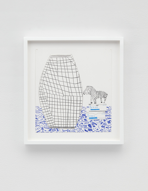 , 'Grid Pot with Zebra,' 2016, David Kordansky Gallery