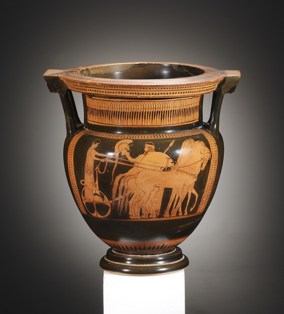 Unknown Greek, 'A Red-figure Column-krater, Attributed to the Nausicaa-Painter', Attic-2nd half of 5th cent. B.C., Cahn International