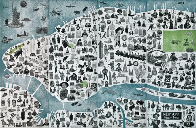 , 'New York Map of Days,' , Sarah Wiseman Gallery