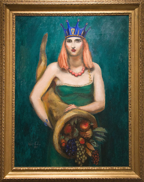 , 'Young Woman with Crown and Cornucopia,' 1937, Graham Shay 1857