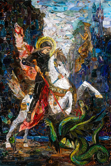, 'Repro (Saints): Saint George and the Dragon, after Gustave Moreau,' 2018, Galeria Nara Roesler