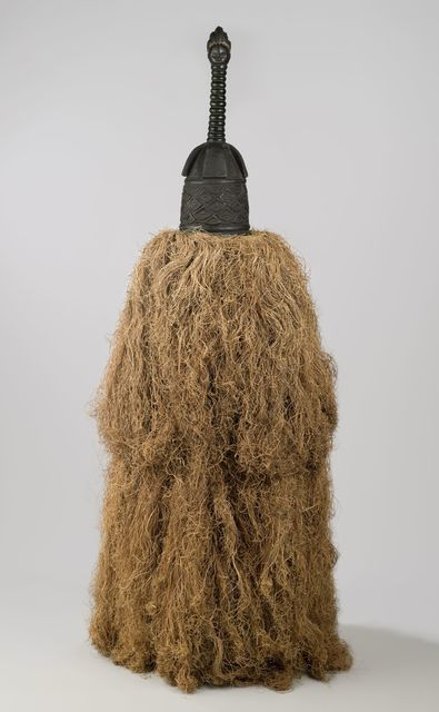 Unidentified Gola Artist, 'Helmet Mask (Gbetu) with Raffia Costume', Early to mid-20th century, Brooklyn Museum