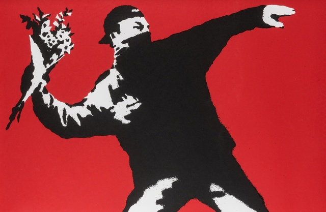 Banksy, 'Love Is In The Air', Forum Auctions