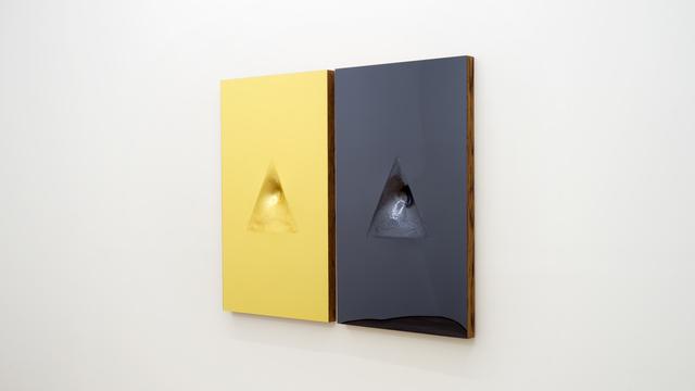Sinisa Kukec, 'VITRUVIANSLUTS (Finance is gold silver is silence)', 2016, Mixed Media, Acrylic mirror, red oak, mix media, Spinello Projects