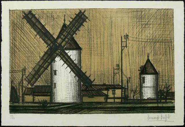 Bernard Buffet, 'The Windmill ', 1953, Galerie Kellermann