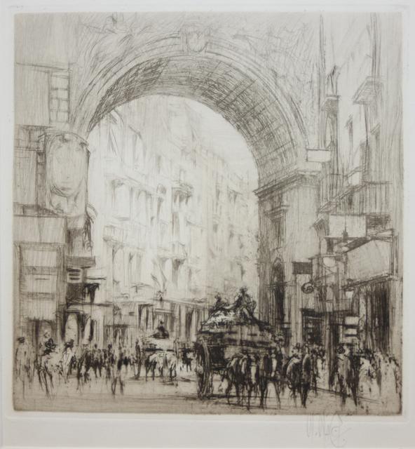 , 'Arc San Carlo, Naples,' 1920, EastCoastArt