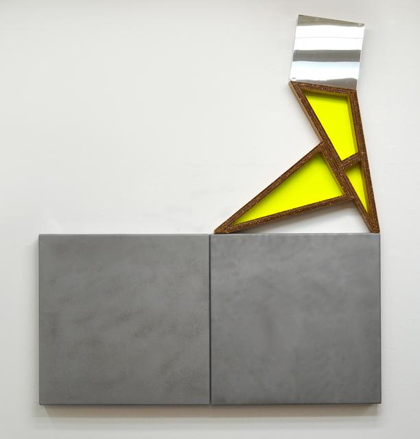 Andrew Roberts-Gray, 'Hangar 18', 2015, Sculpture, Sandblasted steel, cardboard, plexi, paint, Michael Warren Contemporary