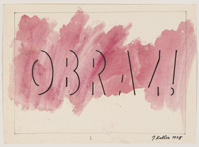 , 'Untitled (Obraz!),' 1975, The Mayor Gallery