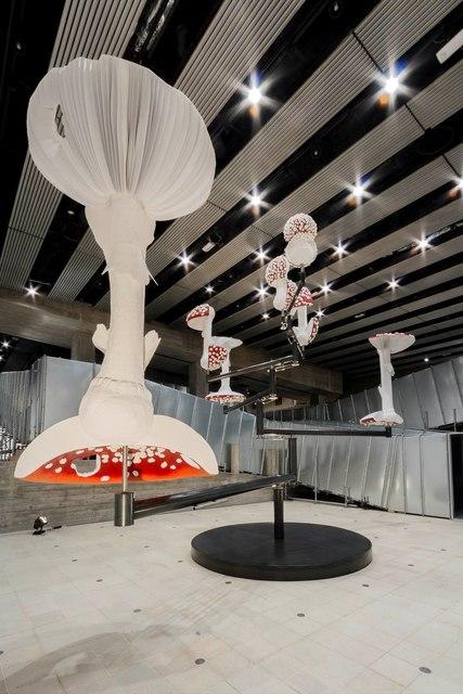 , 'Flying Mushrooms,' 2015, Gagosian