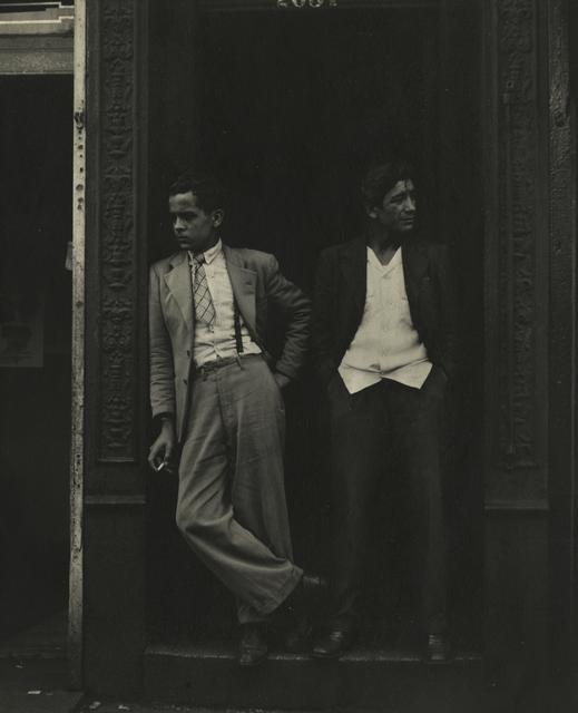 , 'Two Men in Doorway,' 1948, Howard Greenberg Gallery
