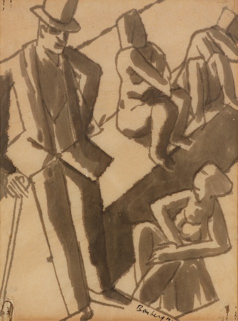 David Bomberg, 'Untitled (Figures)', 1919, Osborne Samuel