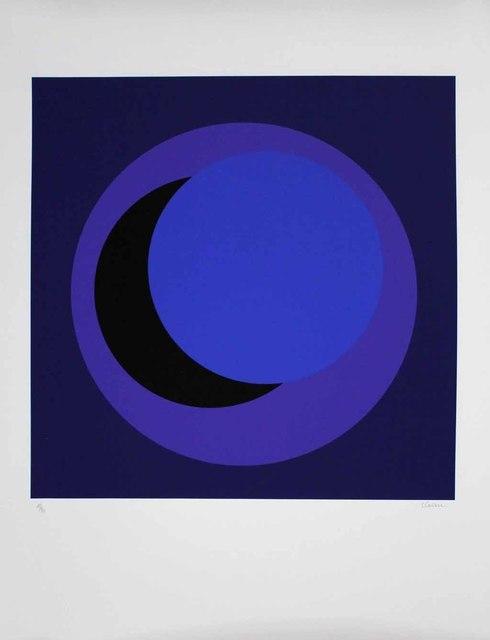 """Geneviève Claisse, '""""Cercle bleu foncé""""', 2015, Galerie-F"""