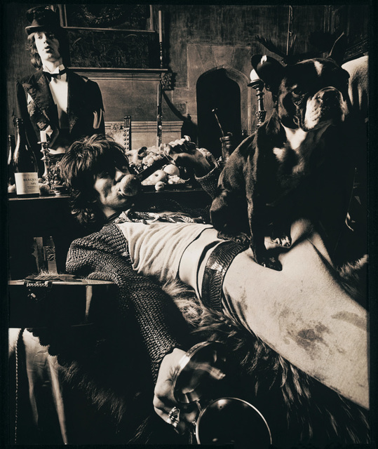 , 'Mick Jagger and Keith Richards, 1968 - Keith & Pug with Mick at Sarum Chase, Beggars Banquet,' 1968, TASCHEN