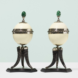 Lidded boxes, pair