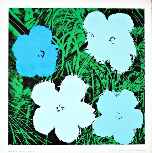 Andy Warhol, 'Flowers (Blue and White)', ca. 1975, Posters, Silkscreen on canson watercolor paper with linen canvas backing. unframed., Alpha 137 Gallery Gallery Auction