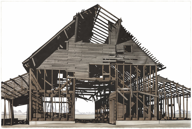 , 'Gamble Barn with Sheds,' 2018, Friesen Gallery
