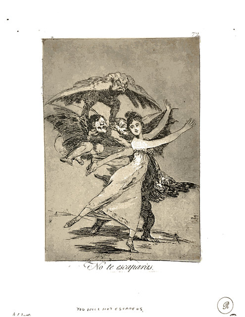 Francisco de Goya, 'No te escaparás', 1904, Broadway fine Art