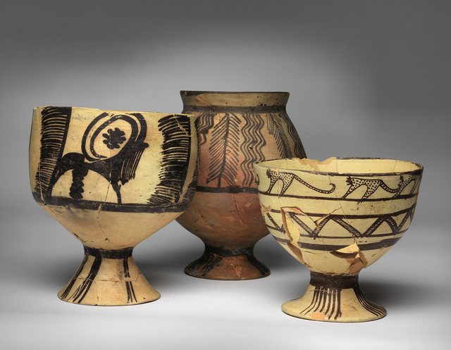 Unknown Artist, 'Group of Footed Bowls', 4500 BCE-4000 BCE, Penn Museum